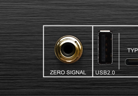 Zero Signal free RCA input connector of your AV receiver